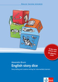 English story dice: 12 dice with picture cues, 66 adjective cards