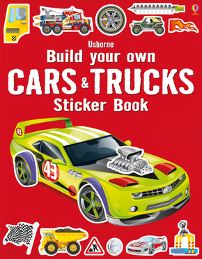 Build Your Own Cars & Trucks Sticker Book